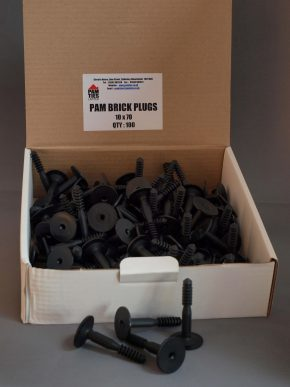 Brick Plugs Black - 10 x 60 (Box Of 100) 1