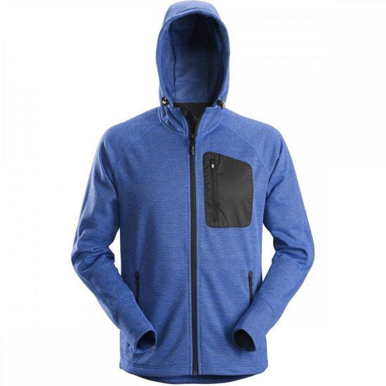 Snickers 8041 FlexiWork, Fleece Hoodie – True Blue