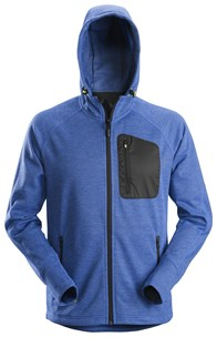 Snickers 8041 FlexiWork, Fleece Hoodie - True Blue 1
