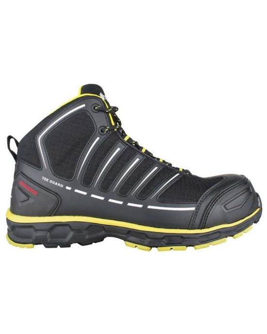 Snickers Toe Guard Safety Boots - Black & Yellow