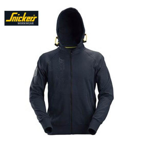 Snickers Logo FZ Hoodie 2880 - Navy 1