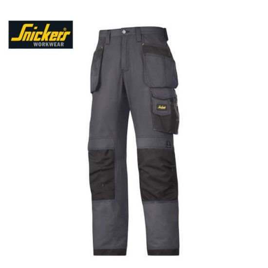 Snickers Trousers 3213 Craftsmen Holster Pocket - Steel Grey 1