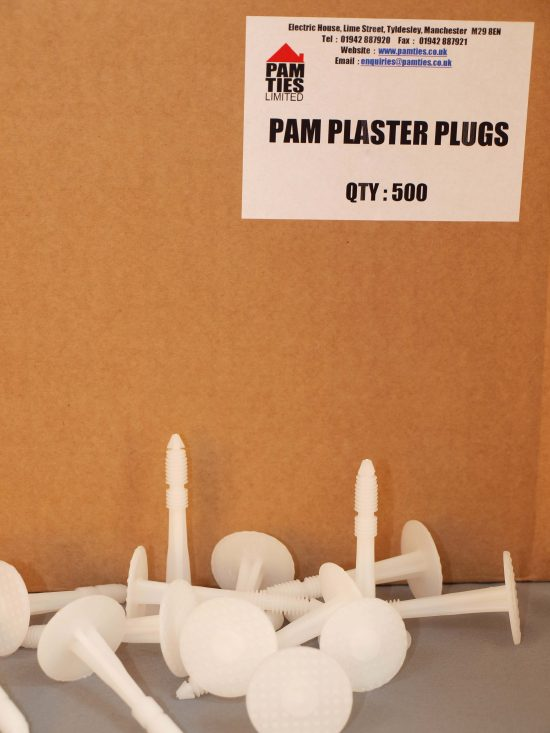 Plaster Plugs - 70MM (Box Of 500) 1