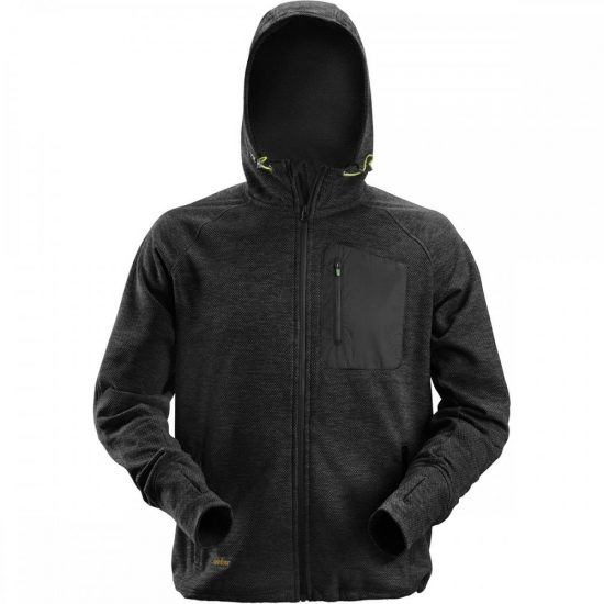 Snickers 8041 FlexiWork Fleece Hoodie – Black