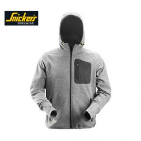 Snickers 8041 FlexiWork Fleece Hoodie - Grey 1