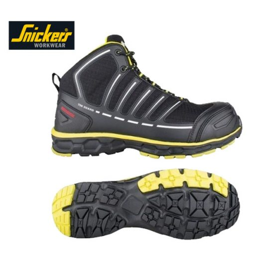 Snickers Toe Guard Safety Boots - Black & Yellow 1