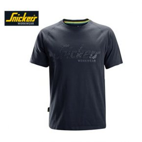 Snickers 2580 T-shirt Logo - Navy 1