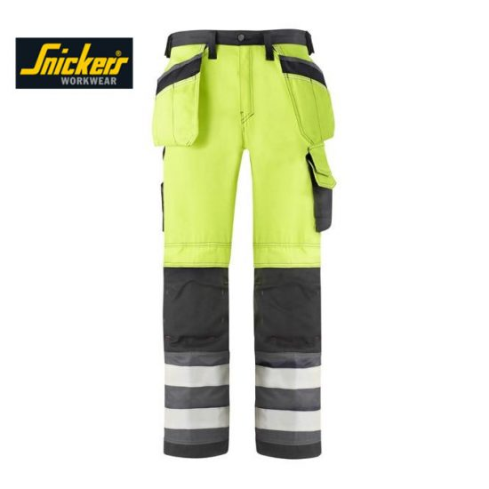 Snickers 3233 High-Vis Holster Pocket Trousers - Class 2 1