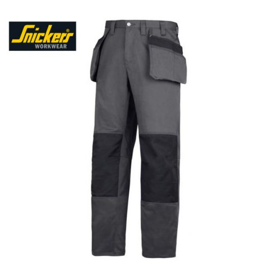 Snickers 3251 Craftsmen Trousers - Grey & Black 1