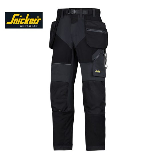 Snickers 6902 Trousers + Holster Pockets - Black 1