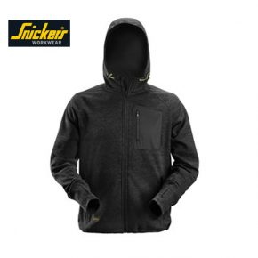 Snickers 8041 FlexiWork Fleece Hoodie - Black 4