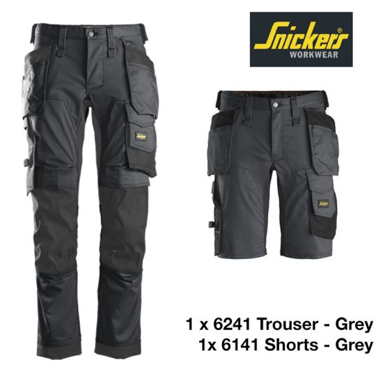 Snickers Shorts 6141 - Steel Grey