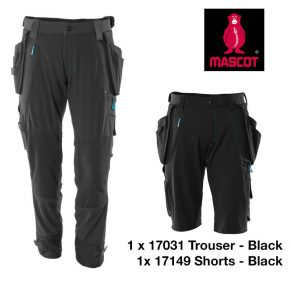 17031 17149 trouser short bundle BLACK