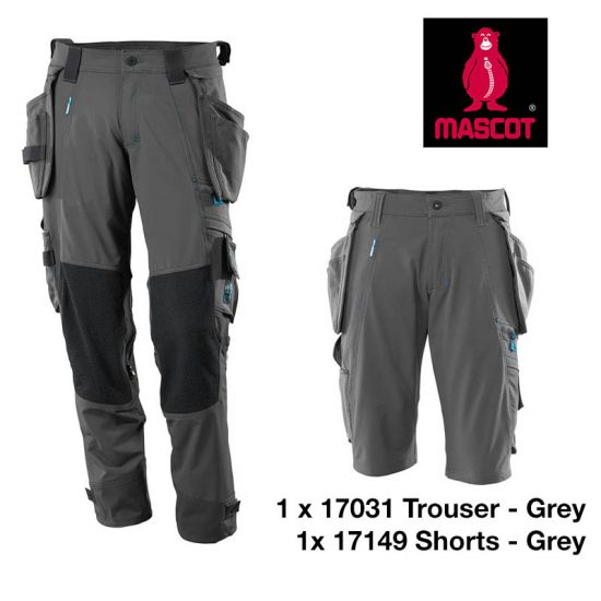 17031 17149 trouser short bundle GREY
