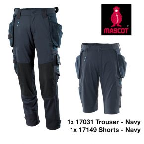 17031 17149 trouser short bundle NAVY