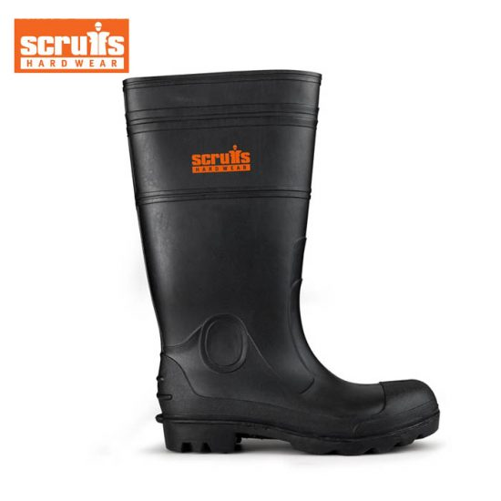 Scruffs Wellington Safety Boots - Black 1