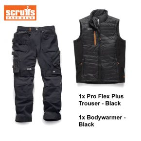 scruffs trouser bodywarmer bundle black