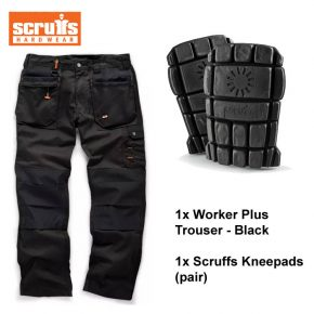 Scruffs Trouser / Kneepads Bundle (Black) 1