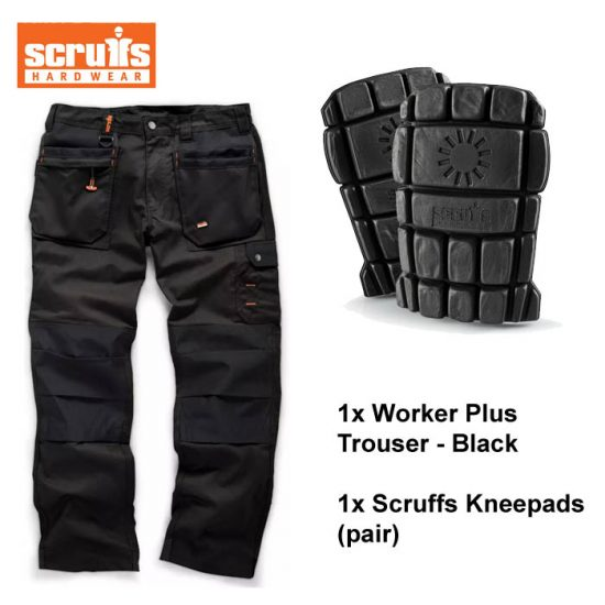 Scruffs Trouser / Kneepads Bundle (Black) 1