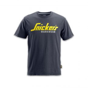 Snickers BSS2502-G Classic T-Shirt Dark Grey With Logo 1