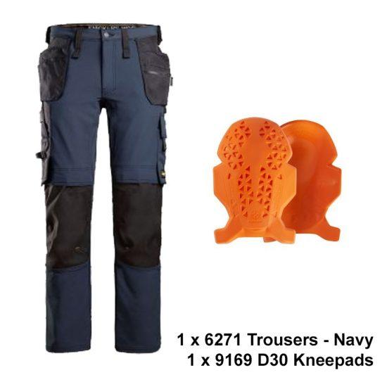 6271-9169 trouser kneepad bundle-navy