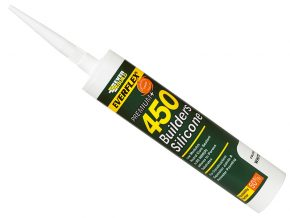 Everbuild Builders Silicone 450 Sealant Clear 310ml - EVB450CL
