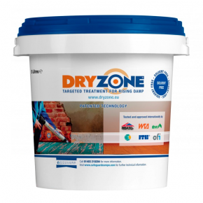 Simple Application The cream comes in both 310 ml mastic cartridges, for isolated areas of damp, or 600 ml foil-wrapped sausages, for large or multiple jobs using the Dryzone Applicator Gun. No special powered pumps or solvent-based chemicals are required. There is also a range of Dryzone System Tools to help application go smoothly, including the Dryzone Drillbit and Dryzone Hole Clearing Tool. The Ultimate Rising Damp Renovation System Dryzone Damp-Proofing Cream is part of the Dryzone System for renovating internal walls suffering from rising damp. This means that it is fully compatible with both Dryzone Renovation Plasters and Dryzone Express Replastering. Full guidance to the use of Dryzone Damp-Proofing Cream and the full system is available in the form of our guidebook, Rising Damp and its Control.