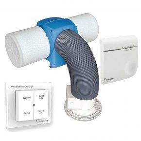 Nuaire Drimaster Eco Heat HC PIV, Wireless Humidity Sensor & Remote Control