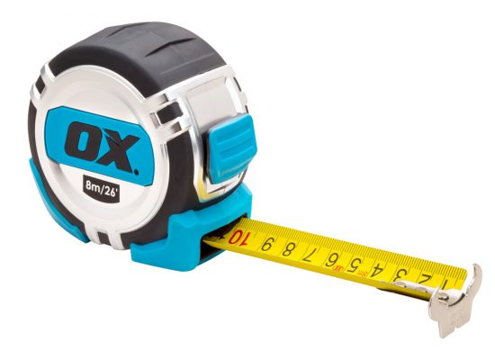 OX Pro Metric/Imperial 8m Tape Measure - OX-P028708 1