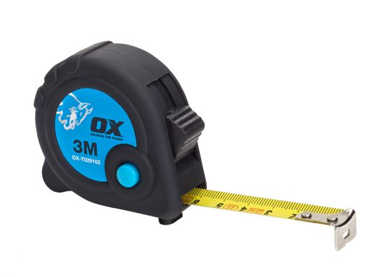 OX Trade 3m Tape Measure - Metric Only - OX-T029103 1