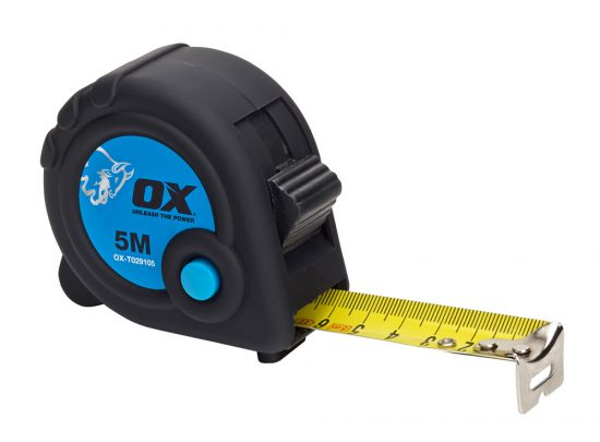 OX Trade 5m Tape Measure - Metric Only - OX-T029105 1
