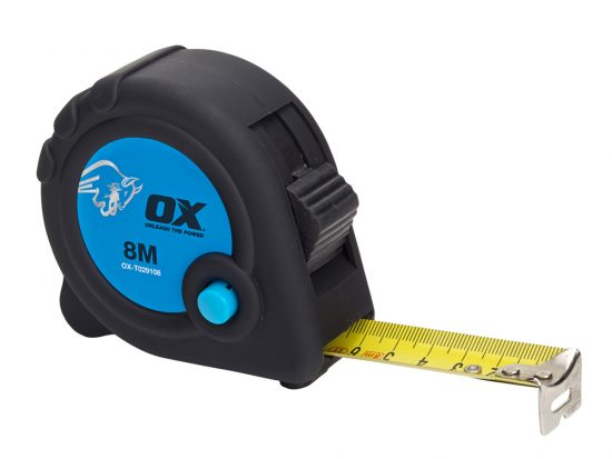 OX Trade 8m Tape Measure - Metric Only - OX-T029108 1