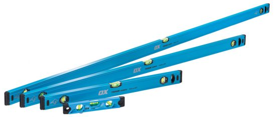 OX Trade 4 Piece Level Set - 600, 1200 & 1800mm Trade Level and Trade 230mm Torpedo Level - OX-T500404 1