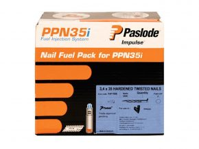 Paslode 35mm Twisted Nails 2500 box and 2 cells 12