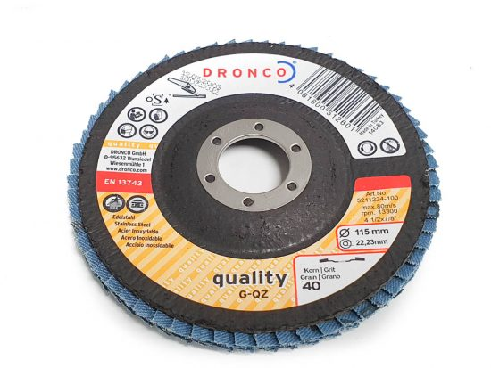 dronco 40 grit flap disc