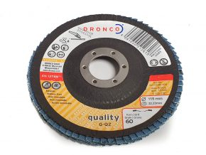 Dronco G-QZ Quality 115mm Flap Disc - 40 or 60 Grit (Pack of 10) 1