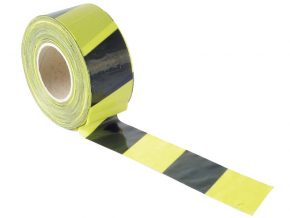 Barrier Tape 70mm x 500m Black & Yellow - FAITAPEBARBY 7
