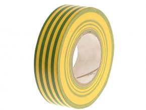 PVC Electricial Tape Green / Yellow 19mm x 20m - FAITAPEPVCGY 6